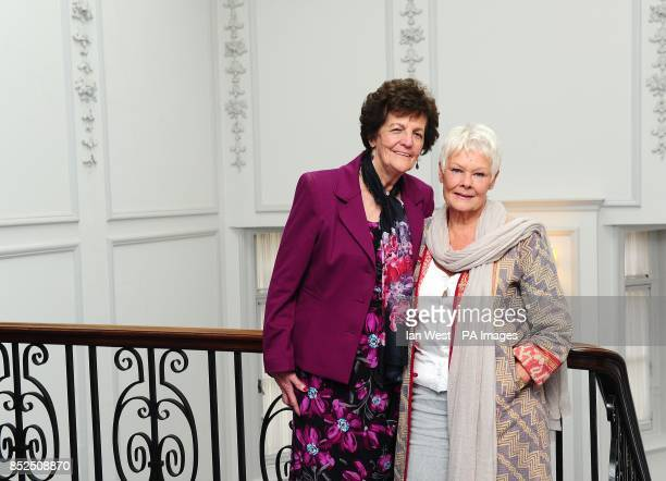 Philomena Lee and Dame Judi Dench at the Claridges Hotel in London