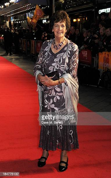 Philomena Lee attends the American Express Gala Screening of Philomena during the 57th BFI London Film Festival at Odeon Leicester Square on October...