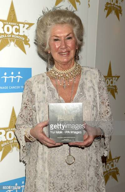 Philomena Lynott mother of the late Thin Lizzy singer Phil Lynott collecting the 'Tommy Vance Inspiration' award on his behalf at the Classic Rock...