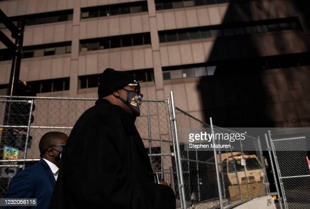 Philonise Floyd, brother of George Floyd, arrives at the Hennepin County Government Center on April 1, 2021 in Minneapolis, Minnesota. The Derek...