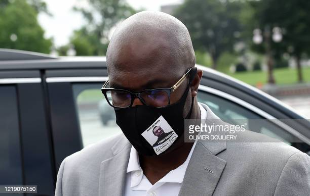Philonise Floyd the brother of George Floyd who was killed by Minneapolis police officers on May 25 2020 arrives at the US Capitol to testify at...