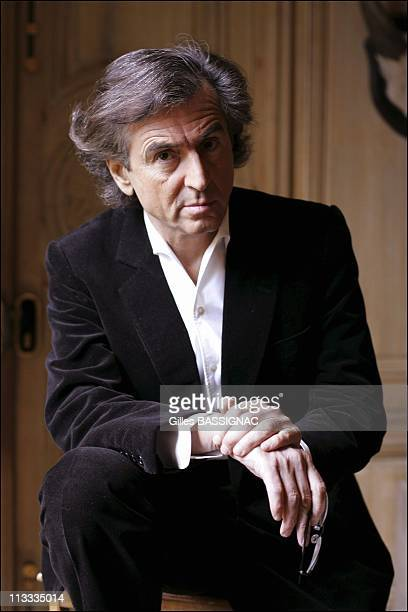 Philosopher And Author BernardHenri Levy At Home On February 27Th 2006 In Paris France Here BernardHenri Levy At Home