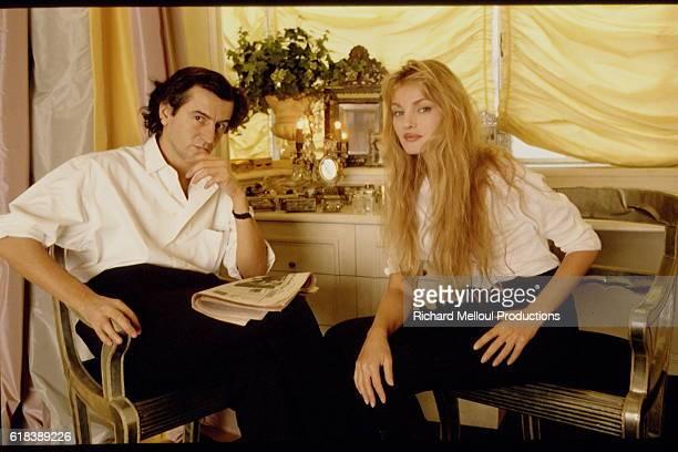 Philosopher Bernard-Henri Levy and Actress Arielle Dombasle