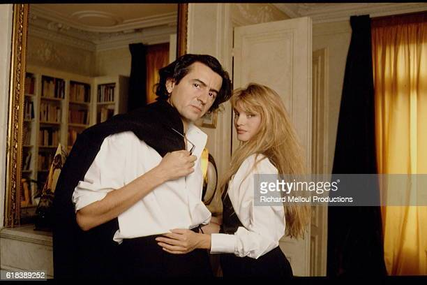 Philosopher BernardHenri Levy and Actress Arielle Dombasle