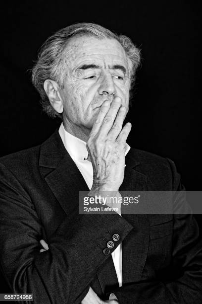 Philosopher BernardHenri Levy is photographed for Self Assignment on March 17 2017 in Valenciennes France
