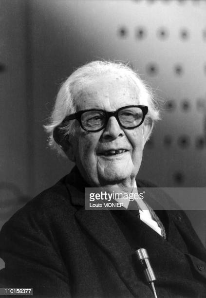 Philosopher Jean Piaget Literary figures of the world in France in 1977