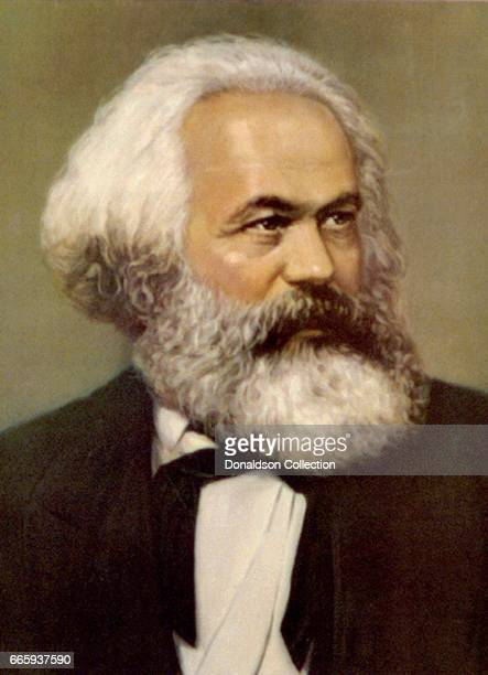 Philosopher Karl Marx poses for a portrait painting in circa 1875