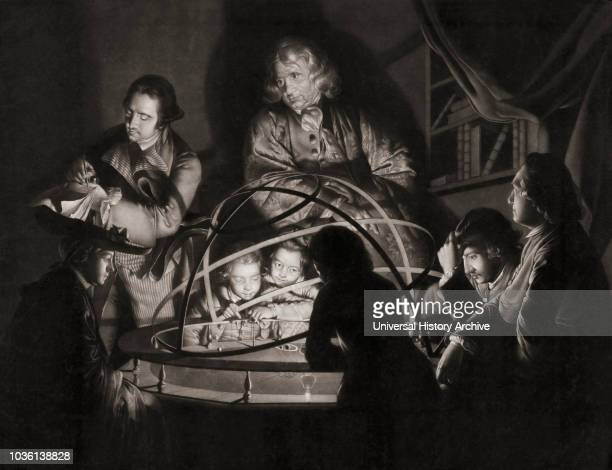 A Philosopher Lecturing on the Orrery after the 1776 painting by English artist Joseph Wright of Derby 17341797