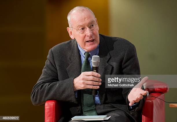Philosopher Volker Gerhardt attends a panel discussion 'Philosophy Meets Politics XIV' in headquarters of SPD party on December 15 2014 in Berlin...