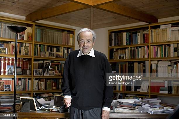 Philosopher, writer George Steiner is photographed for El Pais.