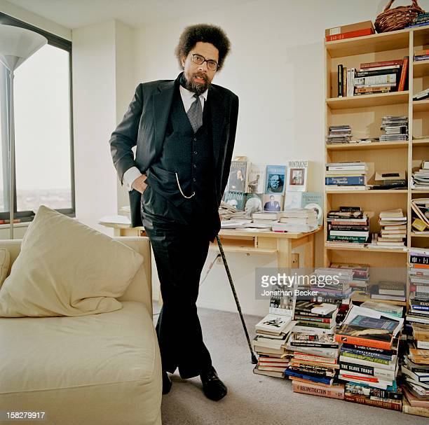 Philosopher/professor/activist/author Cornel West is photographed for Vanity Fair Magazine on February 21 2002 in Boston Massachusetts PUBLISHED...