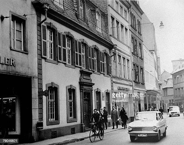 circa 1950's The house in Trier Germany where philosopher economist and social theorist Karl Marx was born