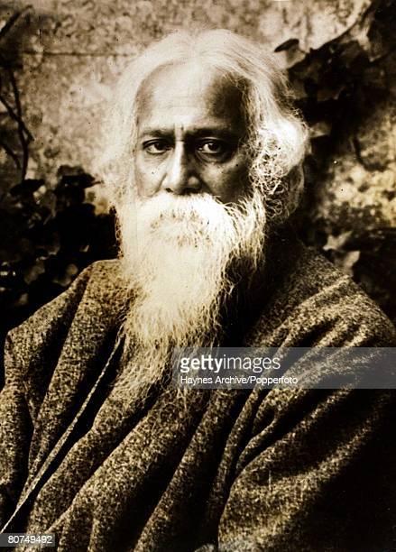 Philosophy Indian philosopher SirRabindranath Tagore Portrait1929