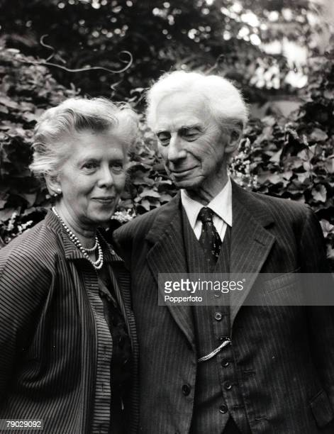 Philosophy/Mathematics England 18th September 1961 Lord Bertrand Russell English born philosopher and mathematician at his Chelsea London home with...