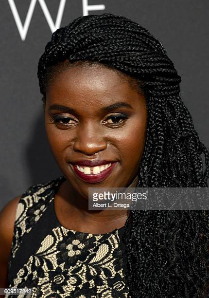 Phiona Mutesi arrives for the Premiere Of Disney's Queen Of Katwe held at the El Capitan Theatre on September 20 2016 in Hollywood California