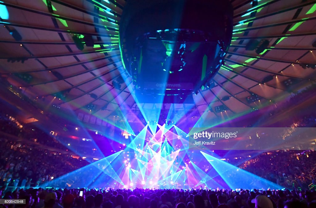 Phish performs at 'The Baker's Dozen' Tour Kick-Off at Madison Square Garden on July 21, 2017 in New York City.