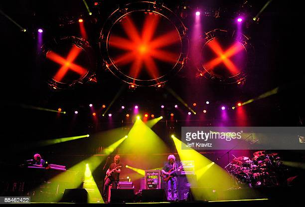 Phish performs on stage during Bonnaroo 2009 on June 12, 2009 in Manchester, Tennessee.