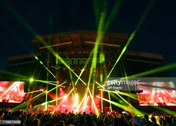 Phish performs on What Stage during the 2019 Bonnaroo Arts And Music Festival on June 16, 2019 in Manchester, Tennessee.