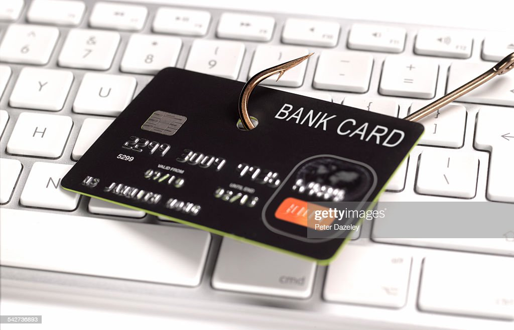 Phishing credit card for information : Stock Photo