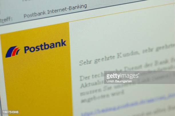 Phishing mail with the logo of Postbank
