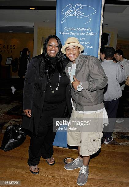 Phlanthropist Cynthia Stafford and actor Orlando Brown attend the 1st Annual Cynthia Stafford's Gifted Day At The Geffen Playhouse on June 15 2011 in...