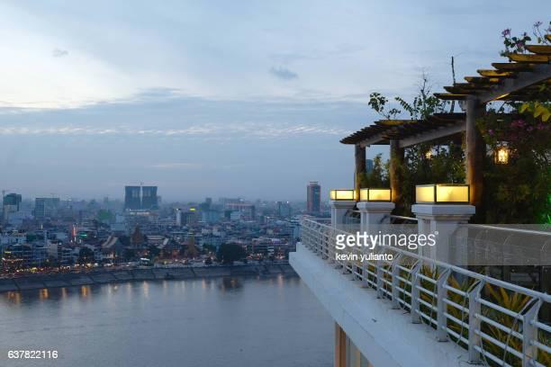 Phnom Penh Cityscape at Dusk
