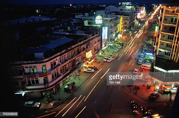 phnom penh - night life in cambodian capital phnom penh ストックフォトと画像