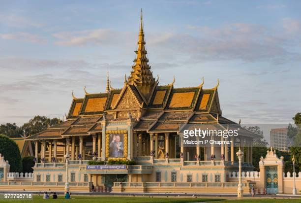 Phnom Penh Royal Palace, Chan Chaya Pavilion, Cambodia at sunrise.