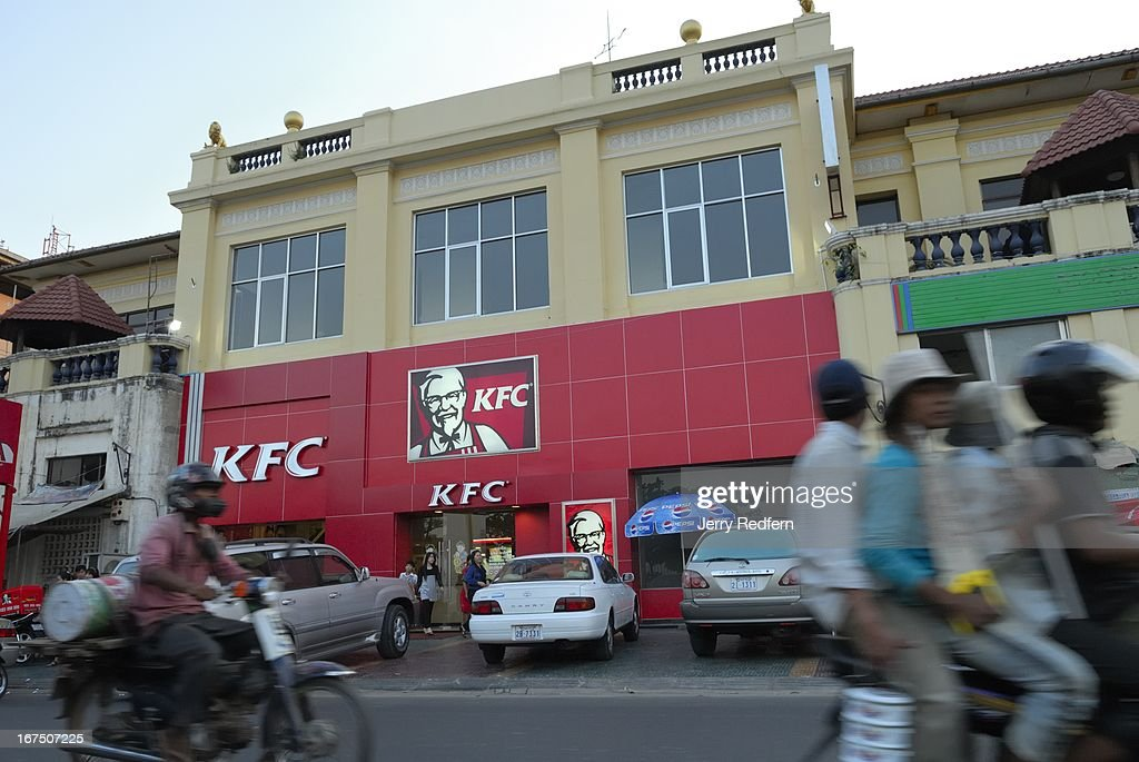 Phnom Penh's first KFC opened in a refurbished colonial... : News Photo