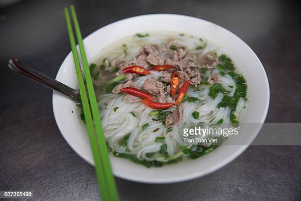 Pho beef noodle soup - Vietnamese traditional food - Vietnam Cuisine