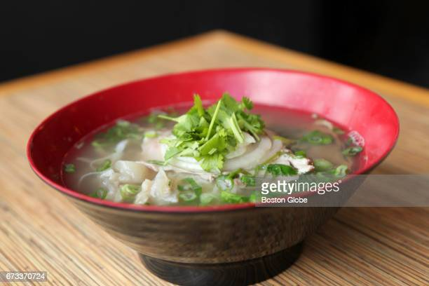 Pho dac biet beef noodle soup is pictured at Noodle Market in Arlington MA on Apr 20 2017