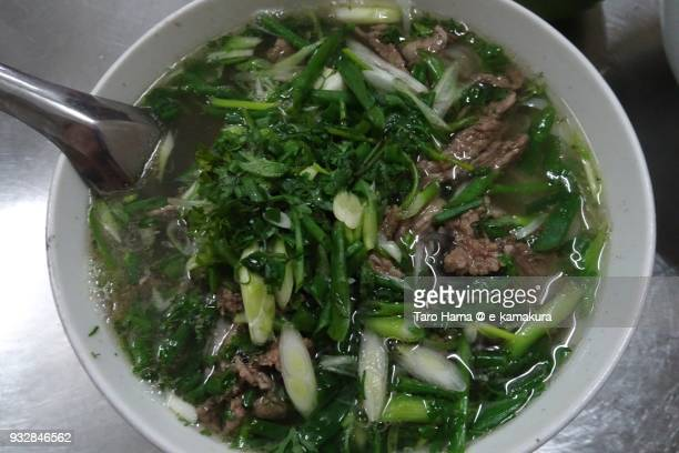 Pho noodle, local rice noodle in Hanoi in Vietnam