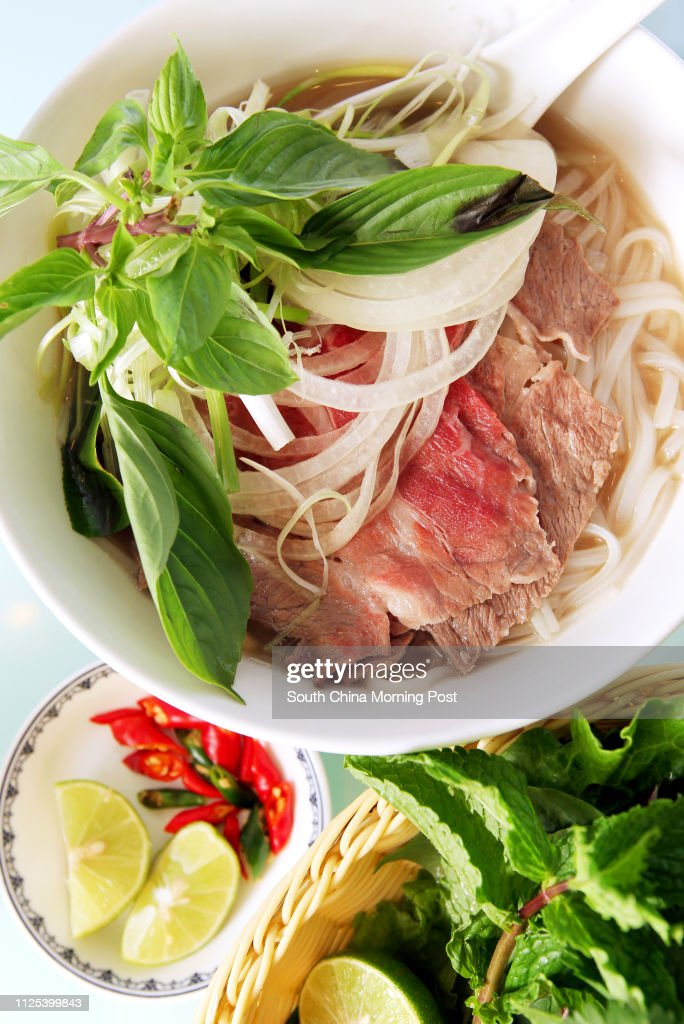 Pho Tai - Pho with thin slices of beef , lean flavourful