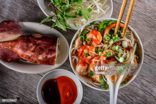 Pho, Vietnamese Soup Bowl, with seafood