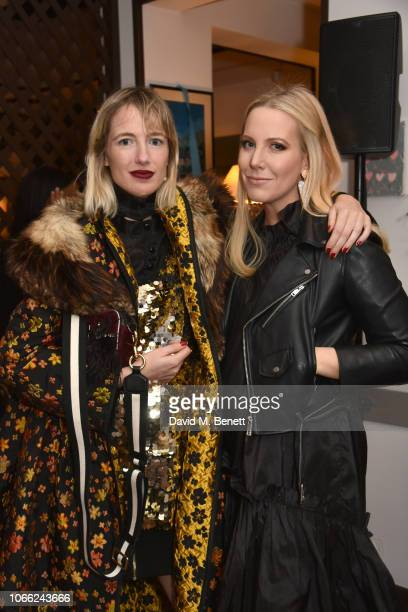 Phoebe Arnold and Alice NaylorLeyland attend the Isa Arfen Spring/Summer 2019 collection launch at San Lorenzo on November 28 2018 in London England