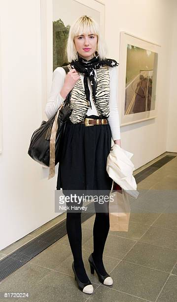 Phoebe Arnold attends the Richard Prince 'Continuation' Private View at the Serpentine Gallery on June 25 2008 in London England