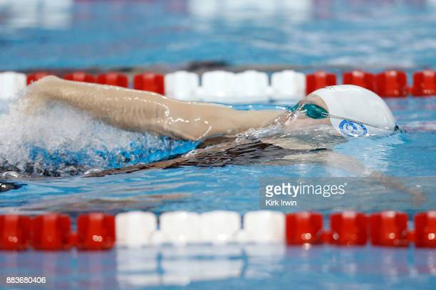 Phoebe Bacon of Nation's Capital Swim Club competes during heat four of the prelims of the women's 100 yard backstroke during day 3 of the 2017...