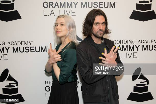 Phoebe Bridgers and Conor Oberst attend The Drop Better Oblivion Community Center on April 18 2019 in Los Angeles California