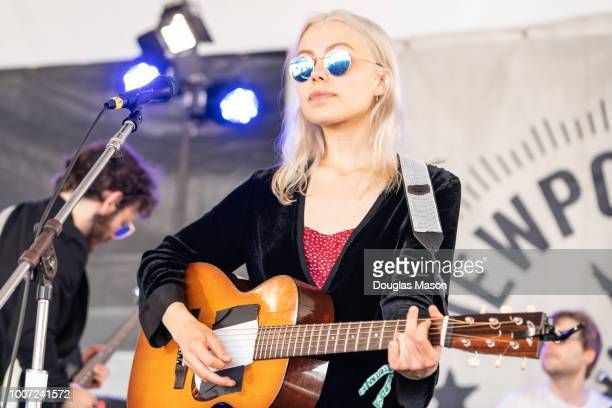 Phoebe Bridgers performs during the Newport Folk Festival 2018 at Fort Adams State Park on July 28 2018 in Newport Rhode Island