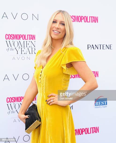 Phoebe Burgess arrives ahead of the 11th Annual Cosmopolitan Women of the Year Awards on October 26 2017 in Sydney Australia