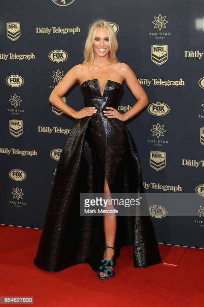Phoebe Burgess arrives ahead of the 2017 Dally M Awards at The Star on September 27 2017 in Sydney Australia