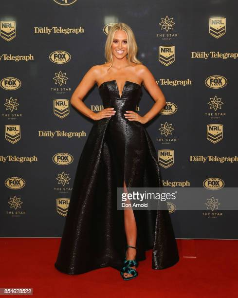 Phoebe Burgess arrives ahead of the Dally M Awards at The Star on September 27 2017 in Sydney Australia