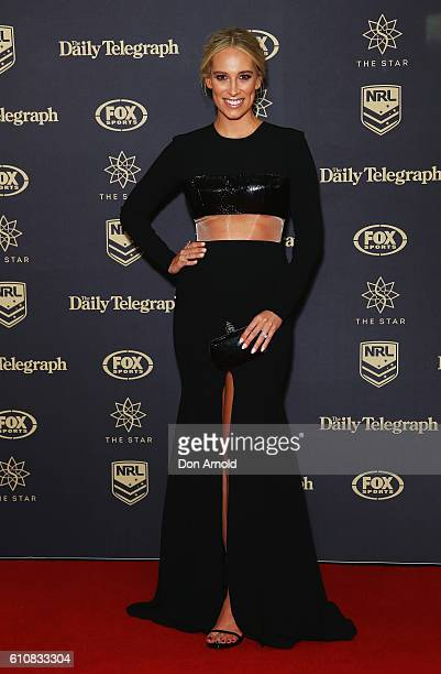 Phoebe Burgess arrives at the 2016 Dally M Awards at Star City on September 28 2016 in Sydney Australia