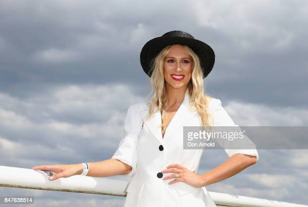 Phoebe Burgess attends Colgate Optic White Stakes Day at Royal Randwick Racecourse on September 16 2017 in Sydney Australia