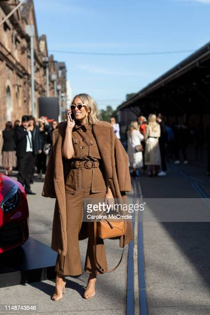 Phoebe Burgess wearing Zimmermann and Max Mara at Mercedes-Benz Fashion Week Resort 20 Collections on May 13, 2019 in Sydney, Australia.