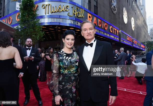 Phoebe Cates and Kevin Kline attend the 2017 Tony Awards at Radio City Music Hall on June 11 2017 in New York City