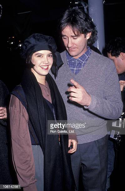 Phoebe Cates and Kevin Kline during 'January Man' Premiere January 9 1989 at Wollman Skating Rink in New York City New York United States