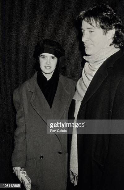 Phoebe Cates and Kevin Kline during Premiere Party for 'January Man' January 9 1989 at Wollman Skating Rink in New York City New York United States