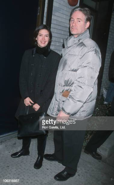 Phoebe Cates and Kevin Kline during 'The Misanthrope' Opening Night February 14 1999 at Classic Stage Company in New York City New York United States