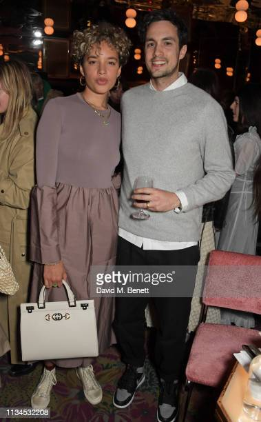 Phoebe Collings-James and Chungaiz Khan Mumtaz attend an exclusive dinner to celebrate the launch of the Alexa Chung and Superga SS19 collection at...